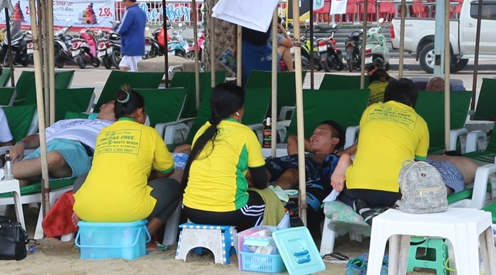 After a long, hard low season, Pattaya's beach masseuses are eager for the return of foreign tourists.