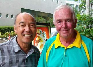 Mashi Kaneta (left) with Dave Cooper.