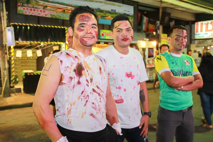 Walking Street bouncers played the part well.
