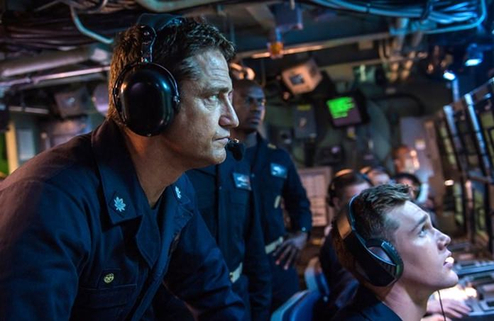 "This image shows Gerard Butler in a scene from ""Hunter Killer"" (Jack English/Lionsgate via AP)"