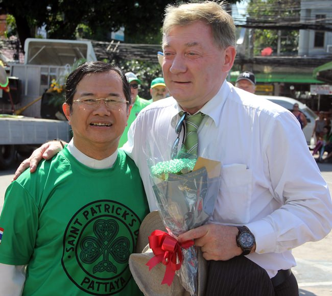 With H.E. Ambassador Brendan Rogers on St. Patrick's Day.