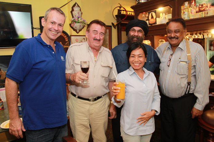 Stuart Marsh, GM BBX Thailand, John Collingbourne, Nachlada Nammontree, Nanak Singh Thakralbutra and Peter Malhotra get acquainted.
