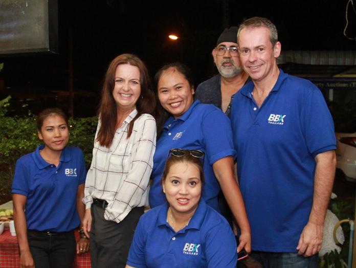 The BBX team with members. Sirikorn Bunnoi, Gloria Jones, (Pattaya Trader) Panjarat Wongsajun, Sundeep Singh Narang (Sunny Online), Susie Spicer and Stuart Marsh.