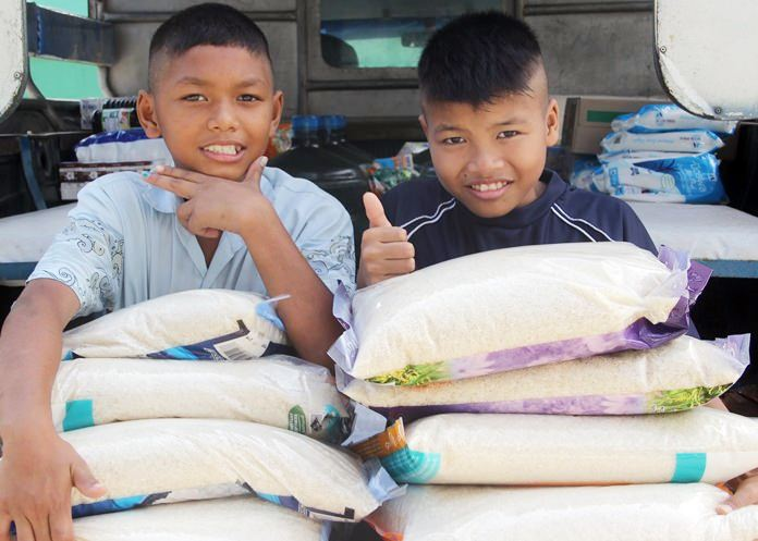 75,000kgs of rice is needed each year.