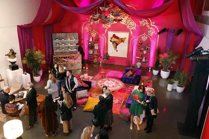 A display previewing travel to India, Nepal, Bhutan, and the Maldives with travel purveyor Black Tomato appears during a preview of the Neiman Marcus Christmas Book in New York. (AP Photo/Richard Drew)