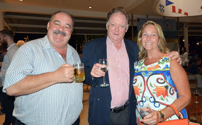 Jack Levy (Macallan Insurance Broker), Allan Riddell (South African Thai Chamber of Commerce) and Rosanne Diamente (Women with a mission).