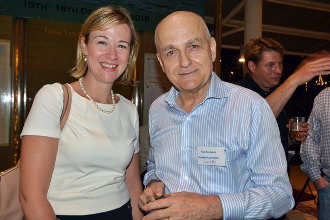 Heidi Gallant, Executive Director of AmCham with Tom Sorensen of Boyden Associates.