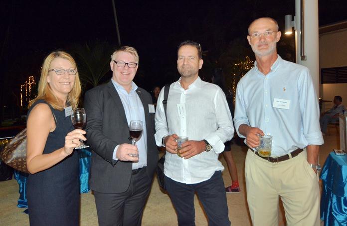 Jacqui Cuthbertson (InterContinental Pattaya Resort), Nicklas Moberg (Pinnacle Hotel & Resorts), Paul Crowhurst and Dirk Janovansky.