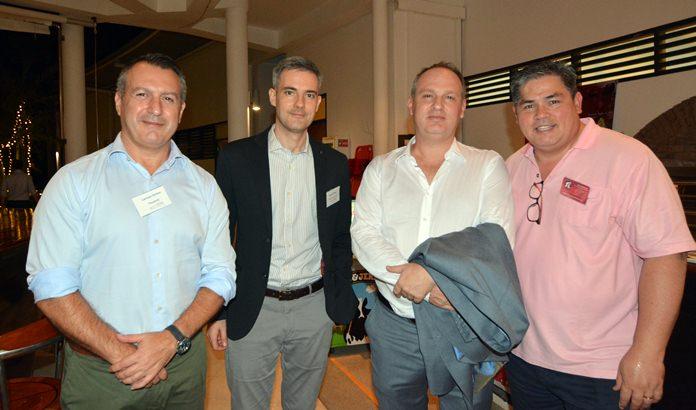Camelo Sortino (Faurecia), Michele Tomea (Thai-Italian Chamber of Commerce), Federio Cardini and David Hitchcock (Red Wolf Global).