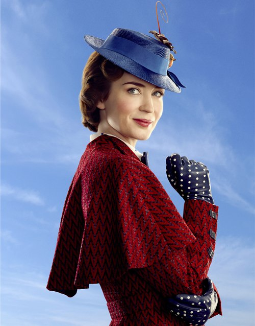 "This image shows Emily Blunt as Mary Poppins in ""Mary Poppins Returns."" (Disney via AP)"