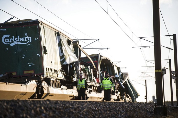 Falling cases of beer kill six train passengers in Denmark bridge accident