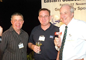 The Jock and Doc show - Paul Strachan (left) and Dr. Iain Corness (right) interview Mark Bowling from Colliers International for Pattaya Mail TV.