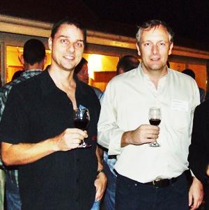 Russell Jay Darrell, MD of Mix FM 88.5, Tim Gladwin MD of Sallmanns.