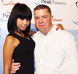 Xanny Disjad with PMTV Paul Strachan.