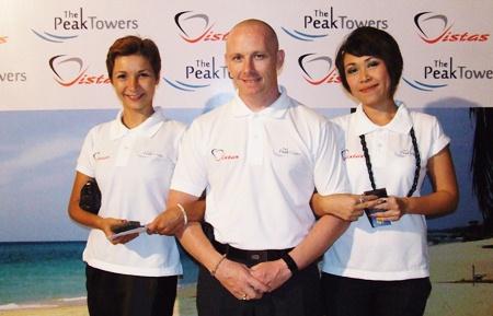 (L to R) Katerina Okisheva, Jason Yong and Chanyamol Khadhanakrit, all from Peak Towers.
