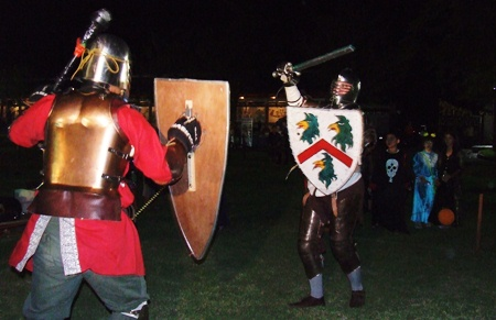 Guest ghosts were treated to phantom swordfights at Horseshoe Point.