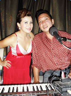 "The live entertainment was provided by ""Mandy and Willie"" - a great couple who normally sing in Jomtien."