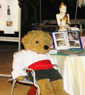 "Bertram the Bear is always a popular ""guest"" at the Charity Club events."