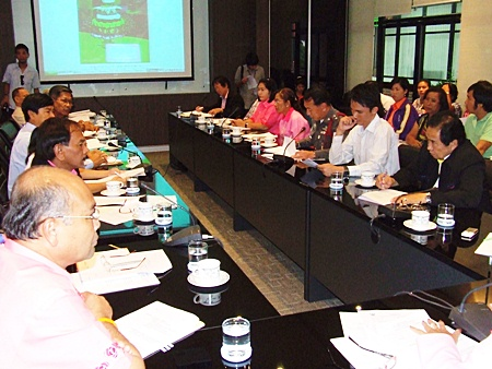 Officials meet to discuss plans for this year's Loy Krathong festival in Pattaya.