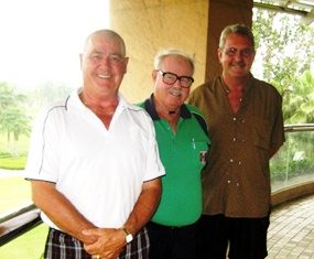 Thursday's flight winners: Noel Pittard, Ken Bernek and Dave Richardson.