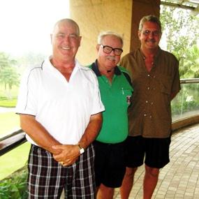 Thursday's flight winners: Noel Pittard, Ken Bernek and Dave Richardson.