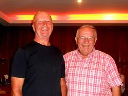 Sunday's winners Bill Peach and Liam McGuinness.