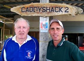 Wednesday winner Paul Kraft, left, with runner up R. Kevin Worl.