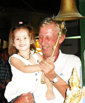 Geoff Parker shares the bell ringing duties with Lily.
