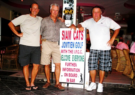 Division winners from Green Valley: Georges Faber, Jim Connelly and Joe Kubon.