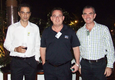 (L to R) Manic Rogens, Mix 88.5 FM; Manic Bowling, Colliers International; and Craig Muldoon, Global Investments.