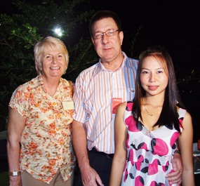 (L to R) Foo Smity, Peter Smith, director of AA Insurance Broker Co., Ltd., and Nan.
