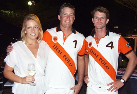 (L to R) Lacey Winterton; Fergus Gould, Thai Polo manager; and Tim Ward, instructor of Thai Polo.