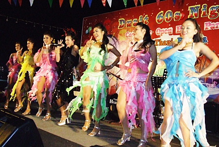 Some lively stage performances invoked memories of the 60s.