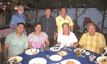 Members of the Rotary Club of Pattaya, Prem's home club, came in force.