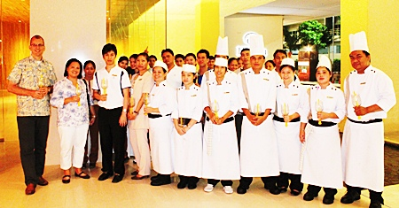 The new Hilton Pattaya Hotel celebrates Father's Day with a candlelight ceremony.