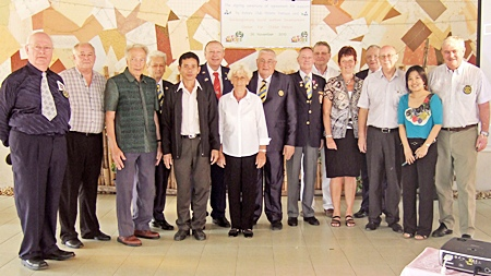The Rotary Club of Pattaya-Phoenix has signed a long-term agreement to financially support the Banglamung Social Welfare Development Center for the Elderly.