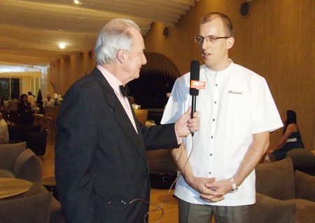 Dr Iain Corness interviews Hilton Pattaya GM Harald Feurstein for PMTV.
