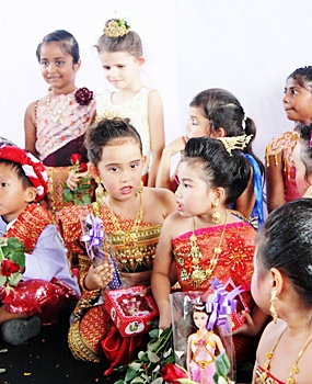Loy Krathong is also celebrated with a beauty pageant and each child wins a prize.