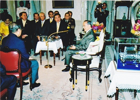 In August 2007, His Majesty the King granted an audience to Apisak Tantiworawong, chairman of the joint three private sectors committee and chairman of Thai Military Bank, along with accompanying members, to present the Chai Pattana water turbine to HM the King to celebrate his 60th year on throne.