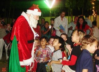 Santa was spotted handing out presents at the ISC Christmas party.