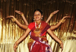 The audience was entertained by vibrant moves of Indian dances.