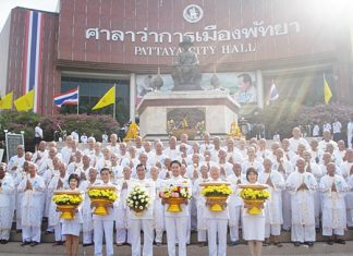 Eighty-four residents joined the monkhood to mark the start of HM the King's 84th year.