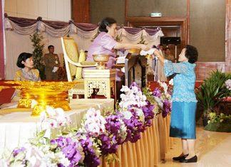 HRH Princess Maha Chakri Sirindhorn graciously presides over the presentation ceremony.