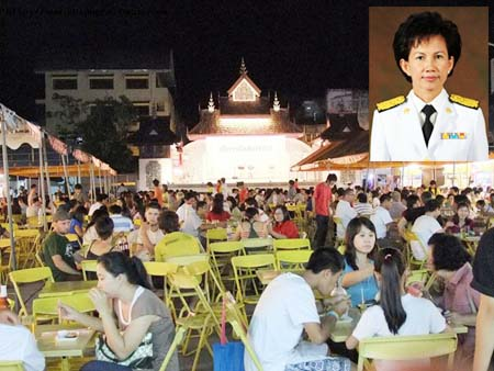 Assistant Health Minister Pansiri Kulnatsiri (inset) warns beer garden owners to not target their advertising to entice underage drinkers.