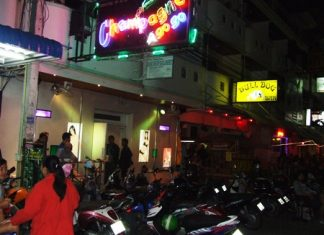 Chonburi Immigration Police raided the Champagne a-Go-Go on Soi LK Metro go-go bar, arresting the staff on prostitution charges.