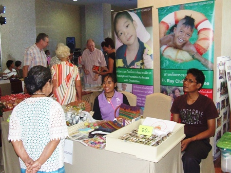 The Father Ray Foundation and their many branches set up a charity booth at the fair.