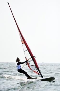 Sarocha Pumprai won a bronze medal in the RSX-female category. (AP Photo/file)