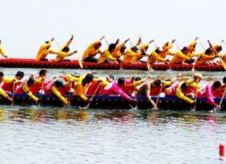International long boat racing on Lake Mabprachan, Sunday, Nov. 21