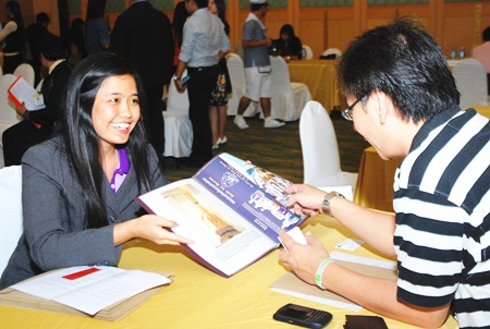 Travel agents from 10 Indonesian agencies visit a TAT sponsored travel fair at the A-One Royal Cruise Hotel.
