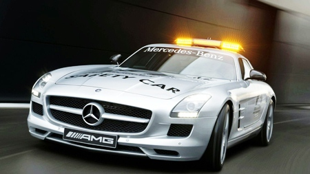 The SLS Mercedes F1 pace car